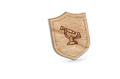 Electron Microscope Lapel Pin, Wooden Pin and Tie Tack   Rustic and Minimalistic Groomsmen Gifts and Wedding Accessories