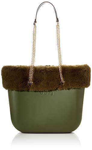 O bag Borsa Completa Obag Mini 20, Bolso tipo tote para Mujer, Verde (Military), 12x29x31 centimeters (W x H x L)