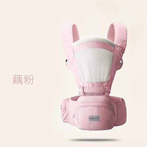 Portabebés ergonómico Mezzeno Portabebés para niños con asiento de cadera frontal para niños Porta bebés para canguro para viajes de bebés 0-18 meses RD425, Rosa-3, OneSize
