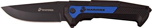 United States Marine Corp USMC Adultes Black Pocket Clip carbure de tungstène Acier Verre ZER brecher Couteau d'extérieur, Multicolore, Taille Unique