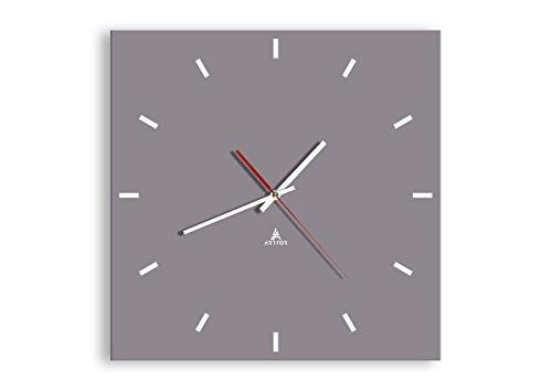 ARTTOR Decorazioni Casa - Orologio da Parete Modern - Home Decor - Orologio in Vetro e con Lancette - Varie Dimensioni e Forme - C3AC40x40-3329