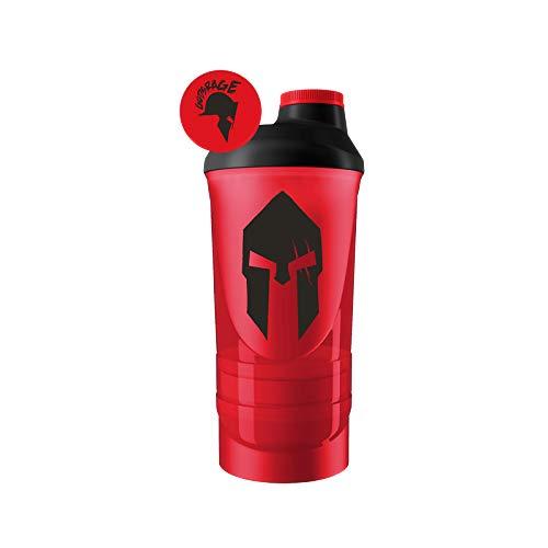 Gods Rage Spartan Wave+ Shaker Proteinshaker Eiweiß Protein Shaker 700ml + 2 Kammern