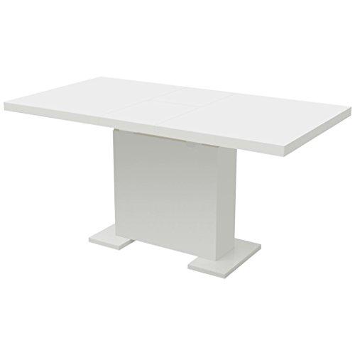 GoodWork4UEu Uittrekbare eettafel hoogglans wit meubels tafels keuken & eetkamertafel