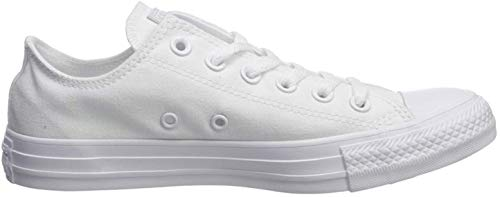 Converse Unisex Chuck Taylor All Star Ox Low Top Classic White Leather Sneakers - 8 B(M) US Women / 6 D(M) US Men