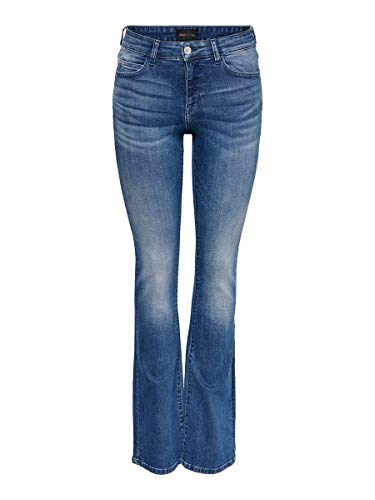 ONLY Female Flared Jeans ONYHUSH Life MID L32Dark Blue Denim