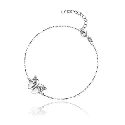 LillyMarie Mujer Niña Pulsera Colgante de Mariposa con Cristales Swarovski Elements Papel Regalo...