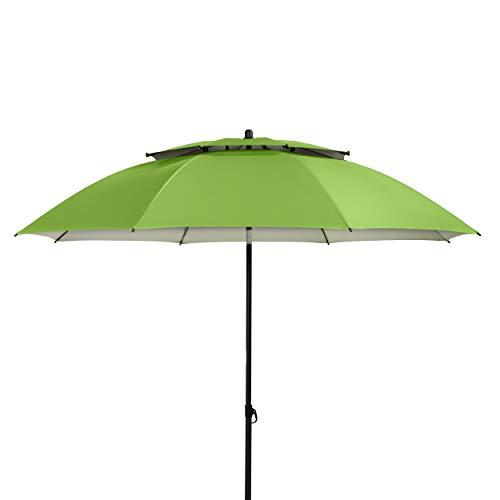 Doppler Sonnenschirm Windprofi 200 cm - Stabiler Sonnenschirm für Strand - Badeschirm - Knickbar - Regenabweisend - Apfelgrün