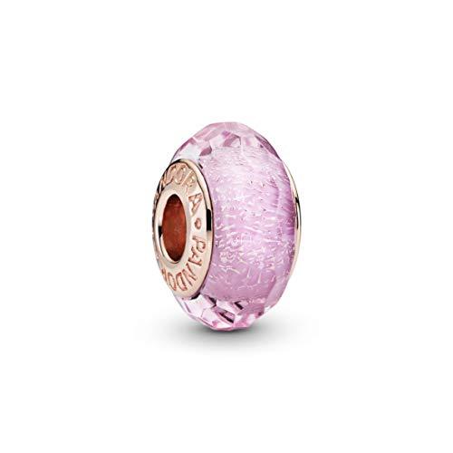 Pandora Jewelry Pink Glitter Glass Pandora Rose Charm