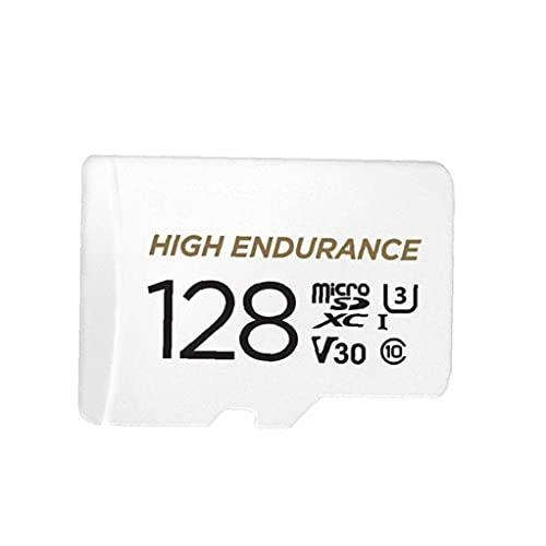 Odoukey Tarjeta Micro SD 128G Tarjeta de Memoria Micro de Alta Velocidad Micro Tarjeta de Memoria con Adaptador Libre Blanco