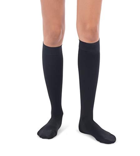 Jomi Compression Knee High Collection, 30-40mmHg Premiere Closed Toe 320 (Small, Black)