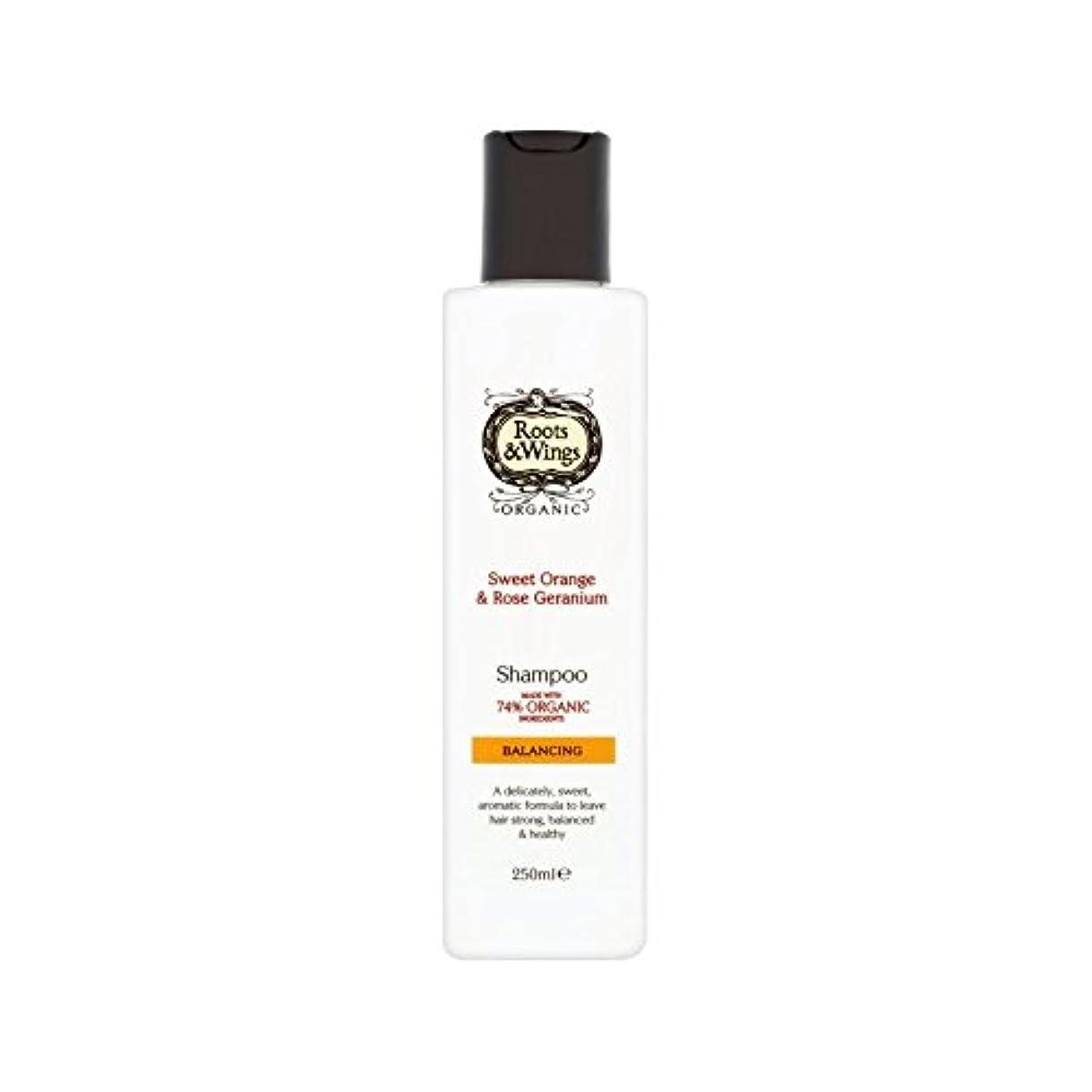 ナビゲーション慎重薄汚いスイートオレンジ&ゼラニウムのシャンプー250ミリリットルをバラ (Roots & Wings) - Roots & Wings Sweet Orange & Rose Geranium Shampoo 250ml [並行輸入品]