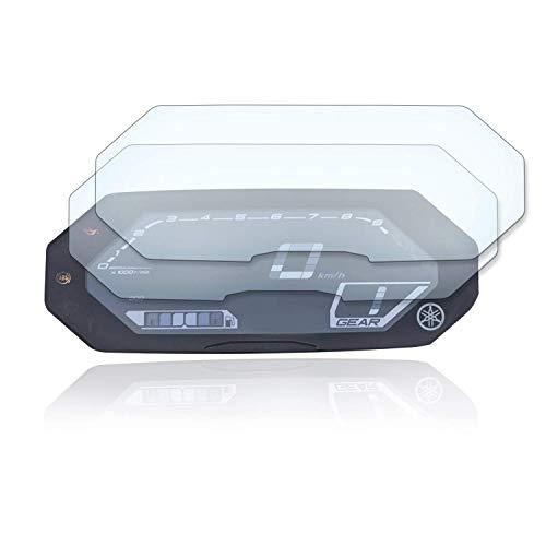 [2 unidades] Protector de pantalla para velocímetro adecuado para Yamaha Tracer 700 2020+ 2 x Ultra Clear