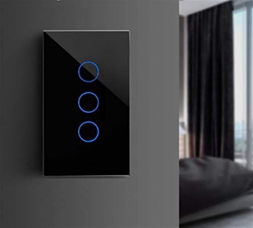 GUODONG MAYE2021 EU/US/UK/AU Estándar Smart Home Light Touch Switch En la Pared del LED táctil Interruptor de la cuadrilla 1 1/2/3 Camino Cristal No Hay WiFi