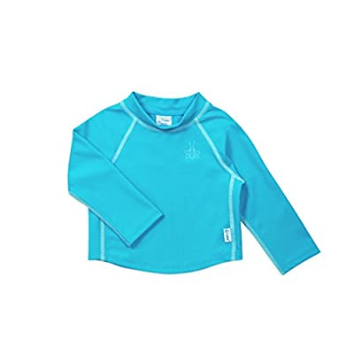 i play. by green sprouts unisex-baby Long Sleeve Rashguard | All-day UPF 50+ sun protection—wet or dry,Aqua,12 mo