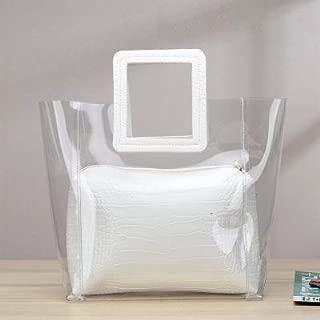 iBag's Women Handbag Satchels Ladies Transparent Handbag 2pc/Set Jelly Multicolor Bag Women beach bag
