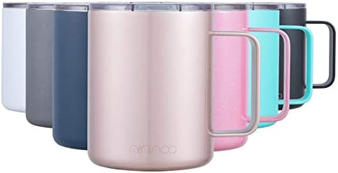 Stainless Steel Insulated Coffee Mug Cup with Handle 12OZ Double Wall Vacuum Travel Coffee Tumbler product image