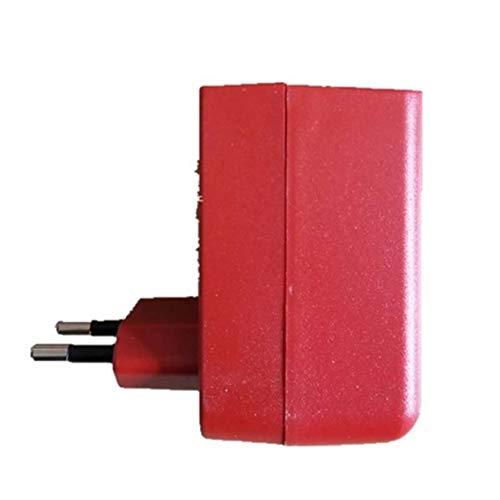 camellia® 1 STÜCK Ladegerät für Swivel Sweeper G1 & G2 (Batterie Nicht enthalten) Hand schieben elektrische Kehrmaschine Ladegerät (rot)