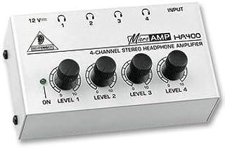 Behringer HA400 - Amplificador de auriculares estéreo (Jack, 4 salidas), color negro