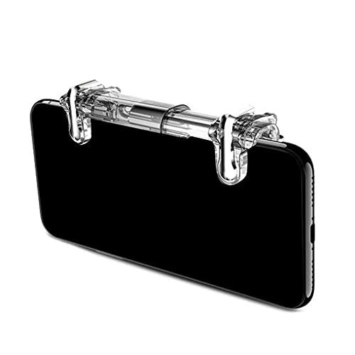 Kesilian Cuatro Dedos Botón Artefacto Juegos móviles Disparo de gatillo Tirador Juego para móvil regulador del Juego de Herramientas Asistida