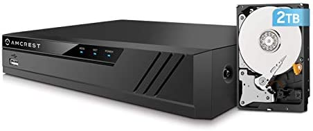 Amcrest NV4108E-HS 4K 8CH POE NVR (1080p/3MP/4MP/5MP/6MP/8MP/4K) POE Network Video Recorder - Supports up to 8 x 8MP/4K IP Cameras, 8-Channel Power Over Ethernet Supports up to 6TB HDD (Not Included)