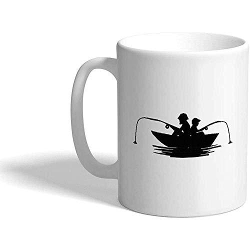 Kaffee-Haferl Männer Angeln in einem Boot Hobbys Keramik Teetasse