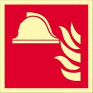 Medium en apparaten voor brandbestrijding volgens ISO 7010 HIGHLIGHT folie 14,8 x 14,8 cm Helderheid: HIGHLIGHT 48 mcd/m2 volgens ISO 7010, F004
