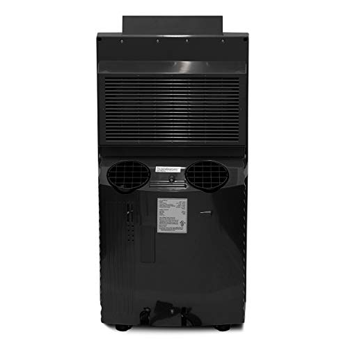 Whynter ARC-14S 14,000 BTU Dual Hose Portable Air Conditioner, Dehumidifier, Fan with Activated Carbon Filter Plus Storage Bag for Rooms up to 500 sq ft, Platinum and Black
