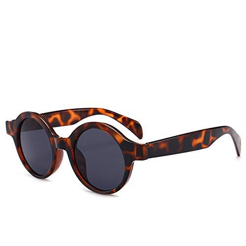 Hombres Retro Gafas De Sol Gafas De Sol De Leopardo para Mujer, Gafas De Sol Redondas Pequeñas Retro para Mujer, Hombre, Moda, Gafas De Sol Vintage, Negro, Blanco, Leopardo Rojo, Gafas De S