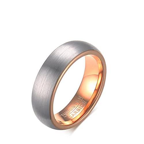 ZIYUYANG anillo de carburo de tungsteno cepillado hombres oro rosa 10 sin grabado