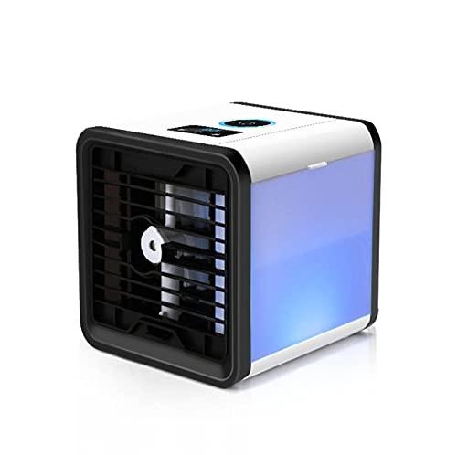 Mini USB Air Cooler Desktop Desktop Refrigerazione Piccolo condizionatore d'aria Aria condizionata Portatile Umidificazione mobile Acqua Ventola di raffreddamento a spruzzo-Ventilatore a freddo