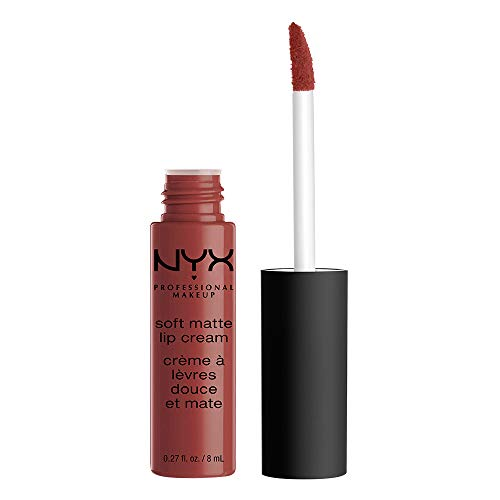 NYX Professional Makeup Soft Matte Lip Cream, Cremiges und mattes Finish, Hochpigmentiert, Langanhaltend, Vegane Formel, Farbton: Rome