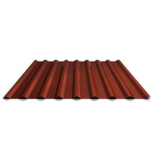 Trapezblech   Profilblech   Dachblech   Profil PS20/1100TR   Material Stahl   Stärke 0,63 mm   Beschichtung 25 µm   Farbe Rotbraun