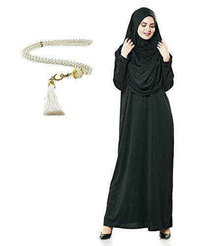 Avanos Prayer Clothes for Muslim Women, Praying Hijabs Islamic Abaya Niqab Burka Hijab Face Cover Clothing Muslim Dress Islam Black
