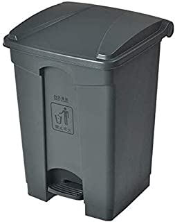 Garbage tribe Grey Trash Can, Household Pedal Type Kitchen Restaurant Large-capacity Trash Can Factory Outdoor Multifuncti...