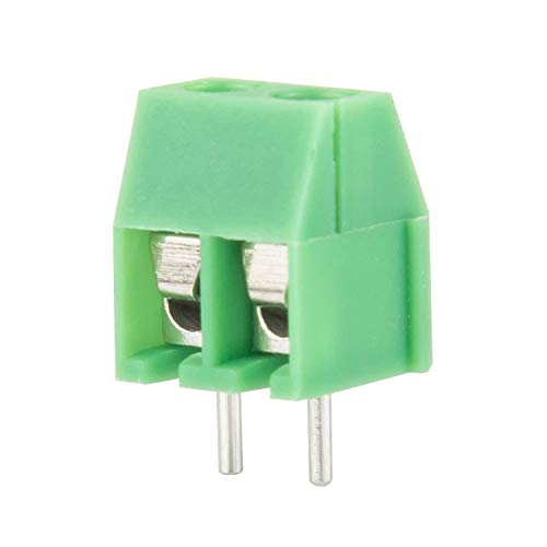 DIYhz green 40PCS 2P 2Pin Screw Terminal Block Connector 3.5mm Pitch for Arduino 10A 300V 10A 130V