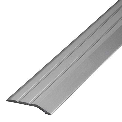 Gedotec Aluminium Übergangsprofil selbstklebend Abschlussprofil Alu | Boden-Leiste höhen-ausgleich | Ausgleichsprofil Silber eloxiert | Abdeckleiste 100 cm | 1 Stück - Übergangsschiene zum Kleben