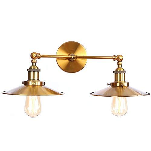HAITOY Lámpara de Pared Industrial Vintage con Brazo oscilante, Fundas de Cables, Acabado en Bronce frotado de Dibujo Adecuado para Dormitorio, Sala de Estar, Hotel