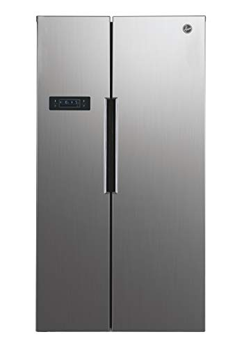 Hoover HHSBSO6174XK Freestanding American Fridge Freezer, Total No Frost, 521L Total Capacity, 90.2cm wide, Stainless Steel, 34004186