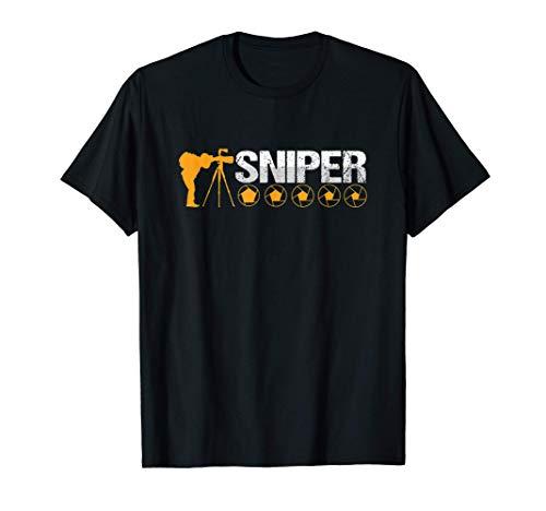 Scharfschütze Fotograf Kameramann Shutterbug Fotografie T-Shirt
