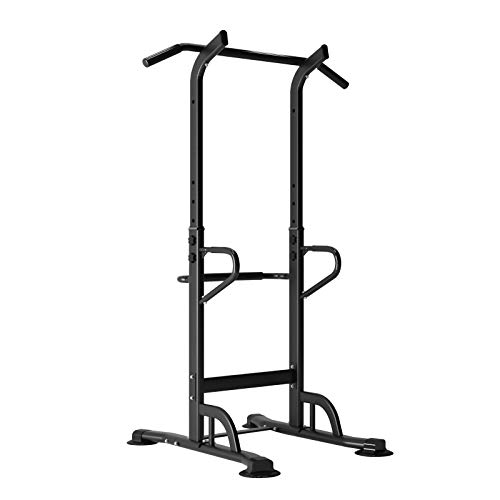 SDHYL Pull Up Bar for Home Gym Home Workout Strength Training Power Tower Home Fitness Dip Station, S7-PSBB002-P-US