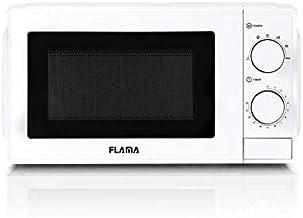 FLAMA 1814FL Microondas 20L Sin Grill Blanco. 6 Programas Automáticos, Función Descongelación, Temporizador hasta 30 Minutos, Interior Blanco
