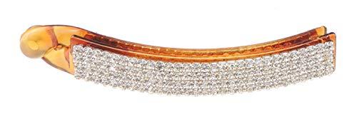 Glamour Girlz - Fermaglio per capelli a forma di banana, extra scintillante, con cristalli, colore: Marrone