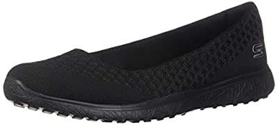 Skechers Sport Women's Microburst One up Fashion Sneaker,Black,6.5 M US