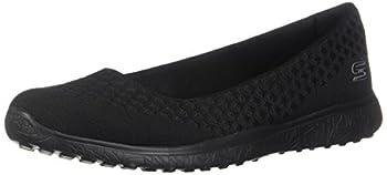 Skechers womens Microburst - One-up Fashion Sneaker Black 10 US