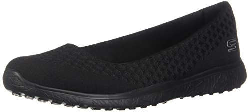 Skechers Women's Microburst One up Fashion Sneaker,black,7.5 W US