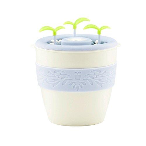 Coco 200 ml de pequeña escala Oficina de escritorio aromaterapia silenciosa de purificación de aire se pueden plantar ultrasonido humidificador (φ60 * 96 * 105 mm) (Color : Blanco)