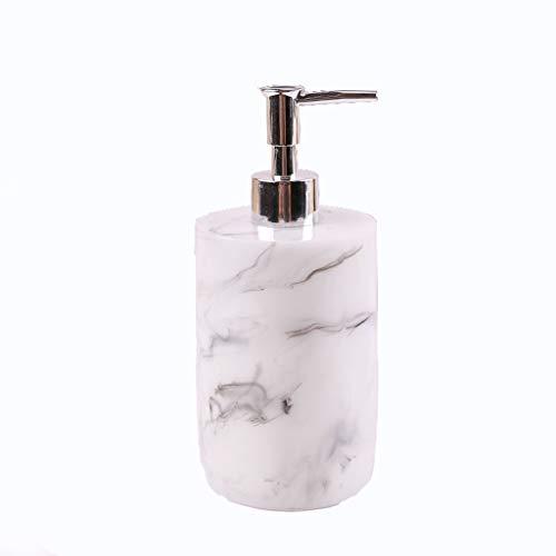 Händedesinfektionsmittel Flaschenpresse Kreative Duschgel Shampoo-Flasche, polierte Oberflächenbehandlung Seifenspender (Color : White)
