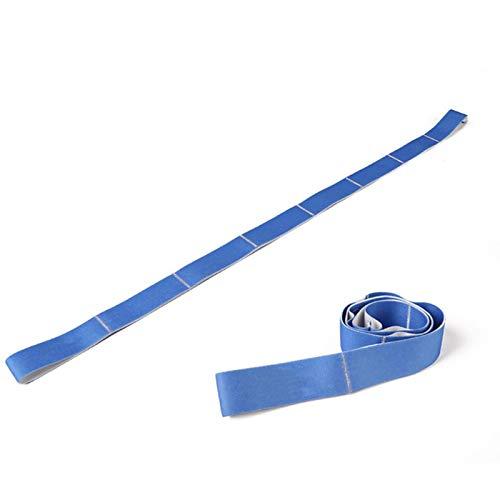 1m Cinturón elástico elástico Ejercicio Correa de tracción Deportes Yoga Bandas de Resistencia Accesorios de Fitness Fitness Gym Excerise Latin Dance-Blue
