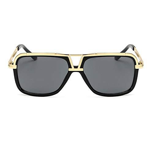 Sonnenbrille Herren Vintage Shades Sonnenbrillen Frauen Männer Square Shape Mode Männer Sonnenbrillen Damen Shades Uv400 Brillen Glossyblack-Grey