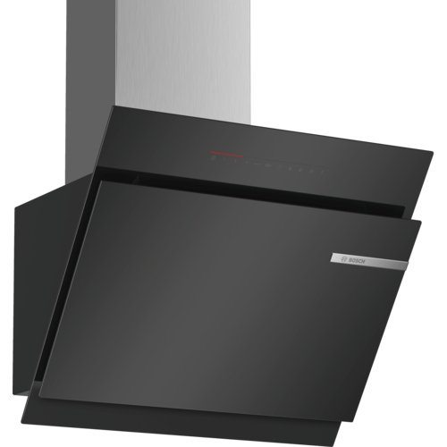 Bosch DWK67JQ60 Serie 6 Wandesse / A / 60 cm / Klarglas Schwarz / wahlweise Umluft- oder Abluftbetrieb / TouchSelect Bedienung / Silence / PerfectAir / Metallfettfilter (spülmaschinengeeignet)